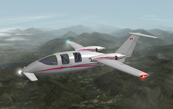 gray-pink SkyShark TP100 over Austrian Alps